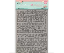 Stamperia Greyboard A4 Circle of Love Alphabet (KLSPDA430)
