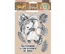 Stamperia Natural Rubber Stamp Amazonia Jaguar (WTKCC192)