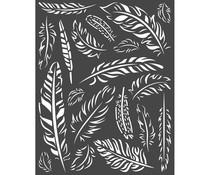 Stamperia Thick Stencil 20x25cm Amazonia Feathers (KSTD066)