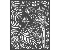 Stamperia Thick Stencil 20x25cm Amazonia Parrot (KSTD067)
