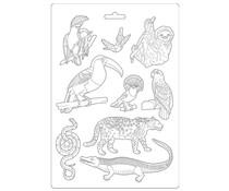 Stamperia Soft Mould A4 Amazonia Animals (K3PTA491)