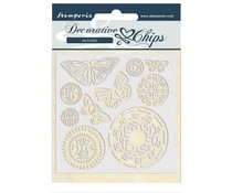 Stamperia Decorative Chips Amazonia Butterfly Tribal (SCB42)