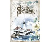 Stamperia Rice Paper A4 Romantic Sea Dream Sea Shore (6 pcs) (DFSA4558)