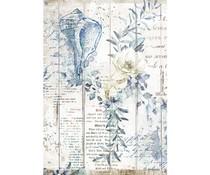 Stamperia Rice Paper A4 Romantic Sea Dream Shells (6 pcs) (DFSA4562)