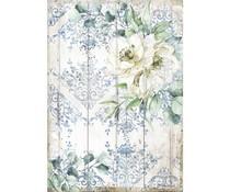 Stamperia Rice Paper A4 Romantic Sea Dream White Flower (6 pcs) (DFSA4561)