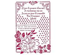 Stamperia Stencil A4 Romantic Journal Flower with Frame (KSG457)