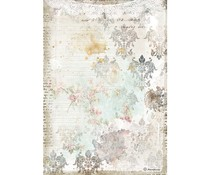 Stamperia Rice Paper A4 Romantic Journal Texture With Lace (6 pcs) (DFSA4556)