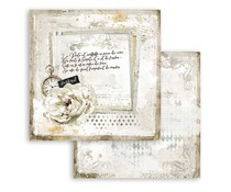 Stamperia Romantic Journal Letter and Clock 12x12 Inch Paper Sheets (10pcs) (SBB783)