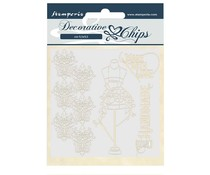 Stamperia Decorative Chips Threads Couture (SCB52)