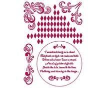 Stamperia Stencil A4 Romantic Threads Corners (KSG464)