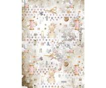 Stamperia Rice Paper A4 Romantic Threads Embellishment (6 pcs) (DFSA4566)