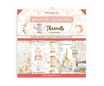 Stamperia Romantic Threads 8x8 Inch Paper Pack (SBBS36)