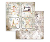 Stamperia Romantic Threads Cards 12x12 Inch Paper Sheets (10pcs) (SBB792)