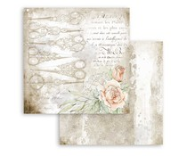 Stamperia Romantic Threads Scissors 12x12 Inch Paper Sheets (10pcs) (SBB789)
