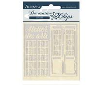 Stamperia Decorative Chips Atelier des Arts Door (SCB48)