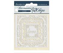 Stamperia Decorative Chips Atelier des Arts Love Frames (SCB47)