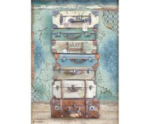 Stamperia Rice Paper A4 Atelier Luggage (6 pcs) (DFSA4547)