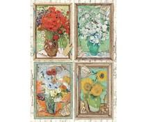 Stamperia Rice Paper A4 Atelier Van Gogh (6 pcs) (DFSA4549)