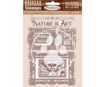 Stamperia Natural Rubber Stamp Nature is Art Frames (WTKCC200)