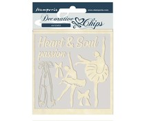 Stamperia Decorative Chips Passion Dancer (SCB45)