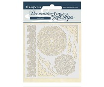 Stamperia Decorative Chips Passion Laces and Corners (SCB43)