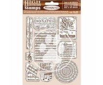Stamperia Natural Rubber Stamp Passion Music (WTKCC197)