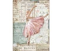 Stamperia Rice Paper A4 Passion Dancer (6 pcs) (DFSA4543)