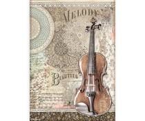 Stamperia Rice Paper A4 Passion Violin (6 pcs) (DFSA4538)