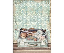 Stamperia Rice Paper A4 Passion Violin and Travelling (6 pcs) (DFSA4544)