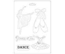 Stamperia Soft Mould A4 Passion Dancer (K3PTA493)