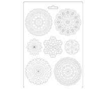 Stamperia Soft Mould A4 Passion Round Lace (K3PTA494)