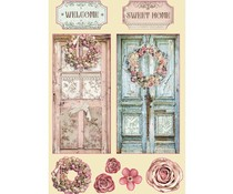 Stamperia Wooden Shapes A5 Passion Home (KLSP098)
