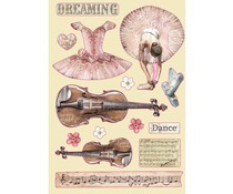 Stamperia Wooden Shapes A5 Passion Violin and Dance (KLSP099)