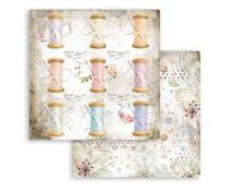 Stamperia Romantic Threads Thread 12x12 Inch Paper Sheets (10pcs) (SBB790)