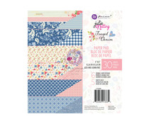 Prima Marketing Julie Nutting Frayed Denim 6x6 Inch Paper Pad (913335)