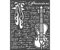 Stamperia Thick Stencil 20x25 cm Passion Violin (KSTD069)