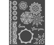 Stamperia Thick Stencil 20x25cm Passion Laces (KSTD068)