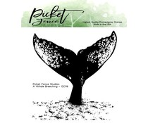 Picket Fence Studios A Whale Breaching 4x4 Inch Clear Stamps (OC-118)