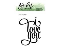 Picket Fence Studios I Love You 2x3 Inch Clear Stamps (S-179)