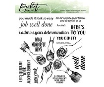 Picket Fence Studios Job Well Done 6x6 Inch Clear Stamps (BB-163)