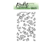Picket Fence Studios Raining Envelopes 2x3 Inch Clear Stamps (BB-161)