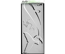 Picket Fence Studios Slim Line Whales and Mermaid 4x10 Inch Stencils (SC-226)