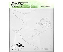 Picket Fence Studios Whale and Mermaid 6x6 Inch Stencils (SC-227)