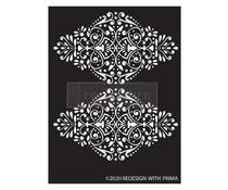 Re-Design with Prima Dotted Flourish 9x13.5 Inch Decor Stencils (650544)