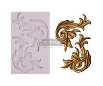 Re-Design with Prima Antique Scrolls 5x8 Inch Mould (650414)