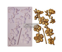 Re-Design with Prima Botanical Blossoms 5x8 Inch Mould (650445)