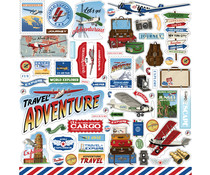 Carta Bella Our Travel Adventure 12x12 Inch Element Sticker (CBOTA131014)