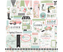 Carta Bella Flower Garden 12x12 Inch Element Sticker (CBGA130014)
