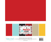 Echo Park A Magical Place 12x12 Inch Coordinating Solids Paper Pack (AMP239015)
