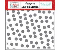 Echo Park Happy Day Dots 6x6 Inch Stencil (AMP239035)